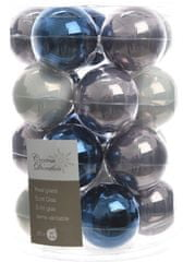 Kaemingk Božični okraski bunke 20 kosov, modra/siva