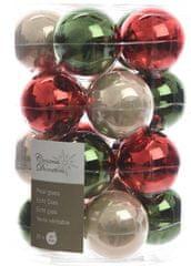Kaemingk Božični okraski bunke 20 kosov, rdeča/zelena