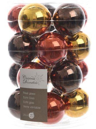 Kaemingk Božični okraski bunke 20 kosov, rjava/zlata