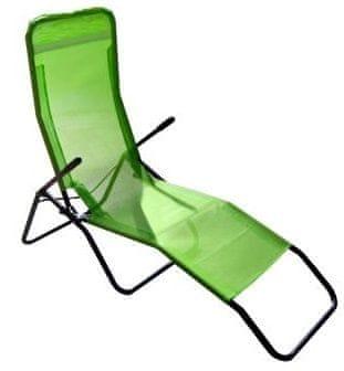 M.A.T. Group Skládací lehátko kovové, světle zelená