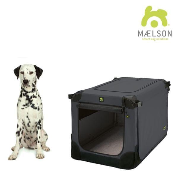 Maelson Přepravka Soft Kennel černá / antracitová vel. 82