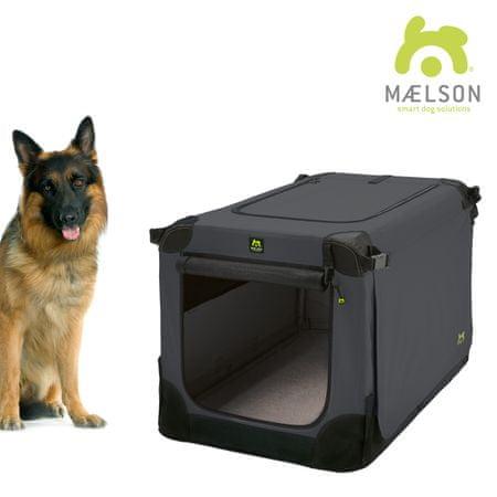Maelson składana skrzynia dla psa Soft Kennel, czarny/antracyt, rozm. 105