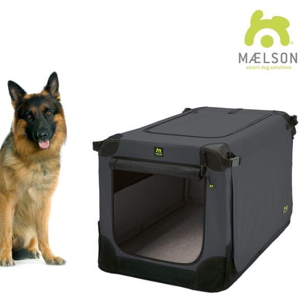 Maelson Přepravka Soft Kennel černá / antracitová vel. 105