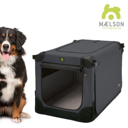 Maelson Soft Kennel Szállítódoboz, Fekete/Antracit, 120