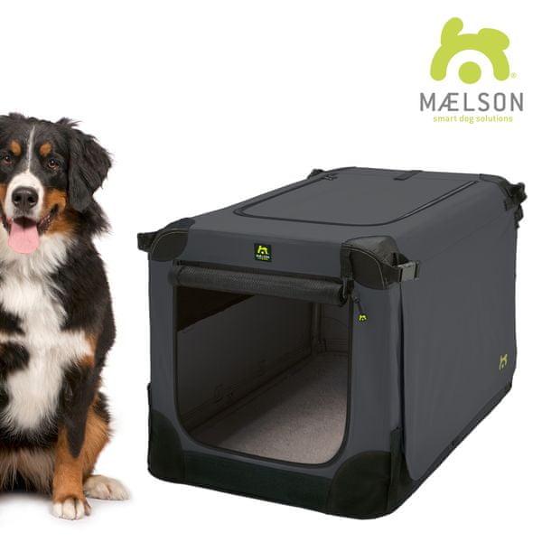 Maelson Přepravka Soft Kennel černá / antracitová vel. 120