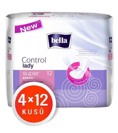 Bella wkładki Control Lady Super 4x12 szt
