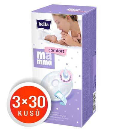 Bella Wkładki laktacyjne Mamma Comfort, 3x30 szt.