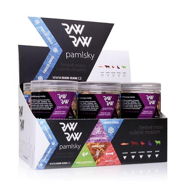 RAW RAW pamlsky Freeze Dried 12x40g- Králík