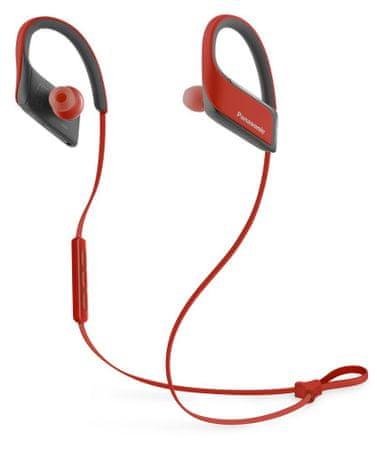 Panasonic brezžične slušalke RP-BTS30E, rdeče