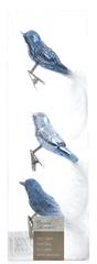 Kaemingk Dekorativni okraski ptice, svetlo modra 3 kosi