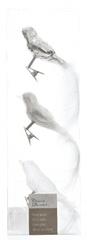 Kaemingk Dekorativni okraski ptice, bela 3 kosi