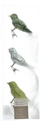 Kaemingk Dekorativni okraski ptice, zelena 3 kosi