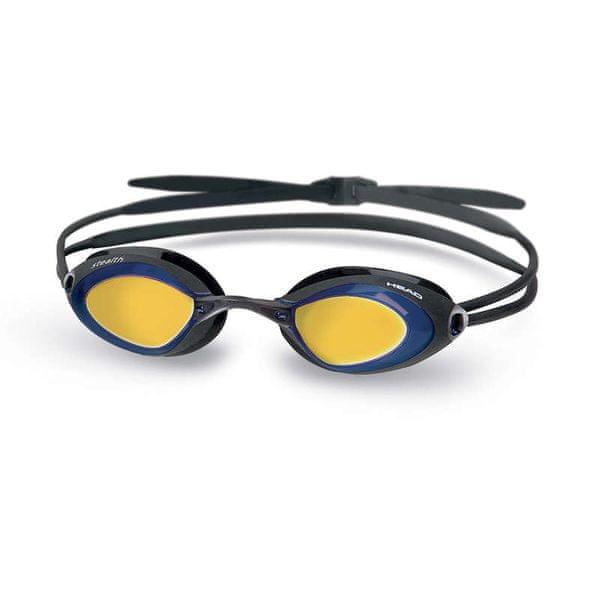 Head Brýle plavecké STEALTH zrcadlové, modrá-černá