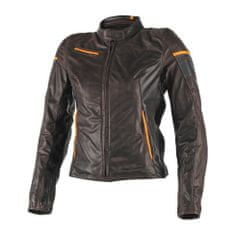 Dainese dámská kožená bunda na motorku  MICHELLE LADY tmavě hnědá/černá/oranžová