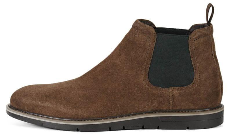 Geox pánská kotníčková obuv Uvet 44 hnědá