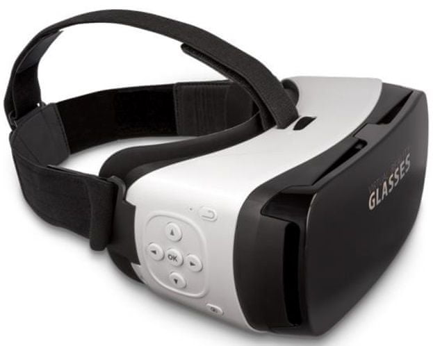 Forever VRB-300 3D brýle s tlačítkem, bílá