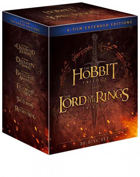Kolekce STŘEDOZEMĚ - Komplet ságy Hobit a Pán prstenů v prodloužené verzi (18BD+12DVD) - Blu-ray