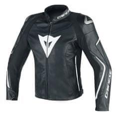Dainese pánská kožená sportovní moto bunda ASSEN černá/bílá