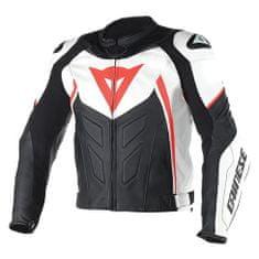 Dainese pánská moto bunda  AVRO D1 bílá/černá/fluo červená, kůže