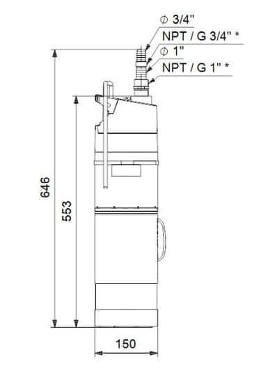 Grundfos vodnjaška potopna črpalka SBA 3-45 A (97896290)