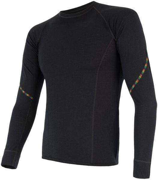 Sensor Merino Air pánské triko dl.rukáv černá XXL