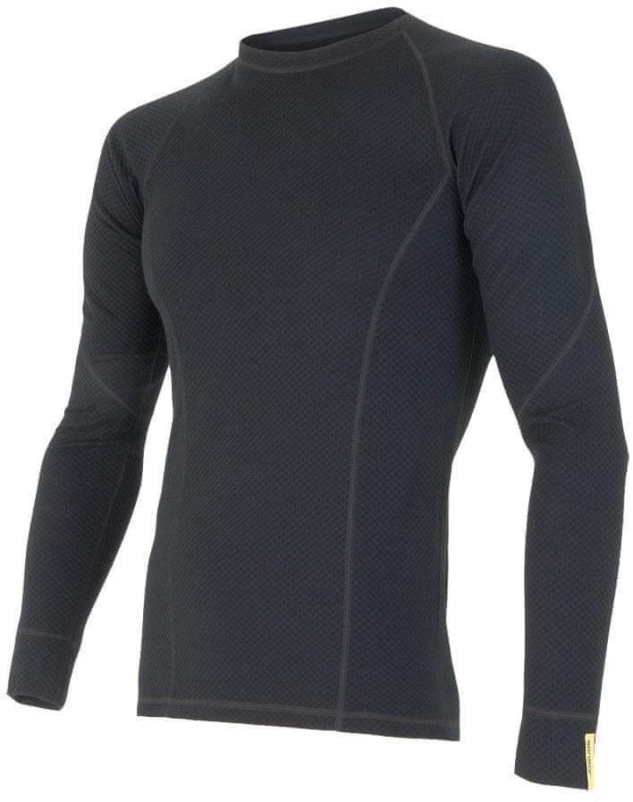 Sensor Merino DF pánské triko dl. rukáv černá L