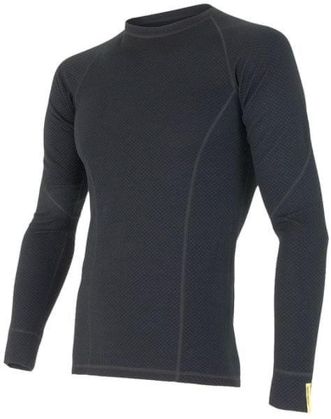 Sensor Merino DF pánské triko dl. rukáv černá XXL