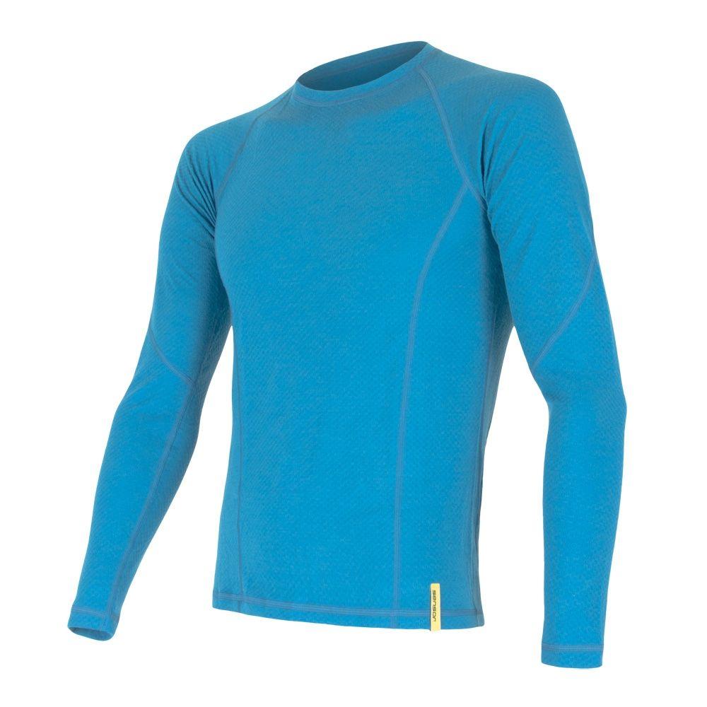 Sensor Merino DF pánské triko dl. rukáv modrá L