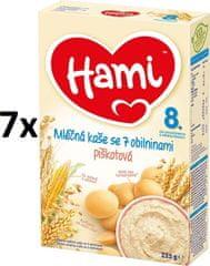 Hami Kaše mléčná s piškoty - 7x225g