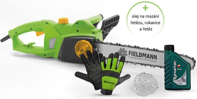 Fieldmann Sada FZP 2005-E+řetěz+olej+rukavice