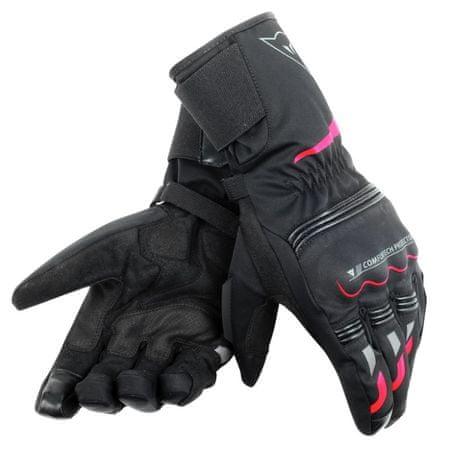 Dainese rukavice TEMPEST D-DRY vel.S černá/červená, textilní