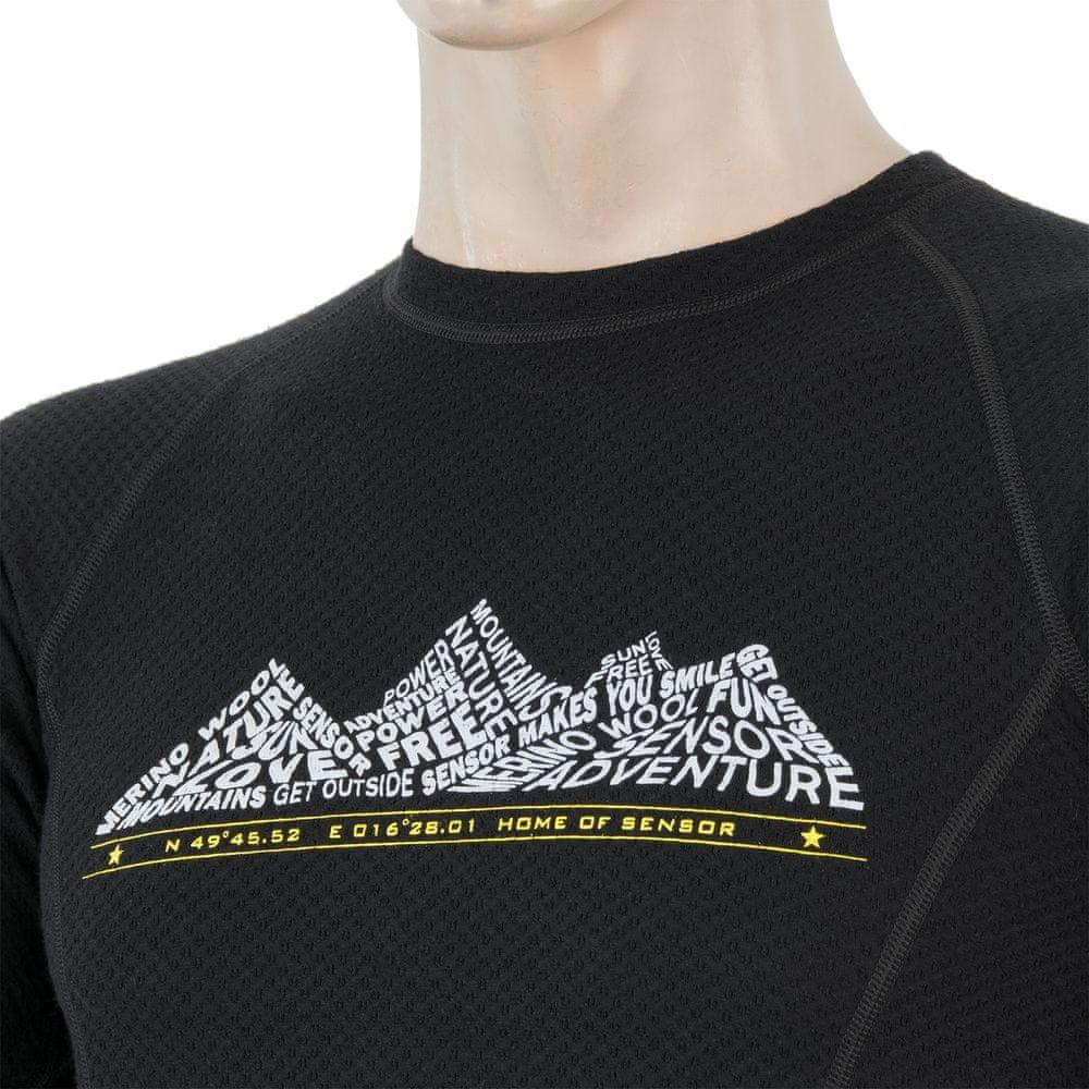 Sensor Merino DF Adventure pánské triko dl. rukáv černá L
