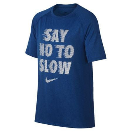 Nike deška majica Dry Tee Leg Rag Say No, modra, XL