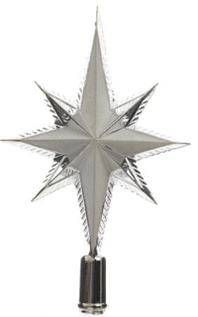 Kaemingk Špica za jelko zvezda, srebrna