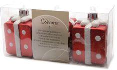 Kaemingk Božični okraski rdeča darila, 3 kosi