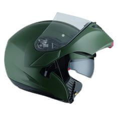 AGV vyklápěcí moto přilba COMPACT ST Army zelená (matná)