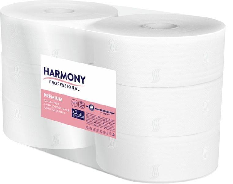 Papír toaletní JUMBO Harmony Professional ? 240 mm celulozový 2-vrstvý / 6 ks