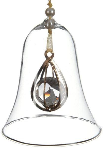 Kaemingk Dekorativní ozdoba zvonek/koule, 2 ks