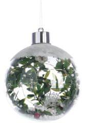 Kaemingk Božični okraski, krogle z rastlino 1 kos