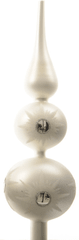 Kaemingk Ozdobná špička stříbrná mat, 31 cm