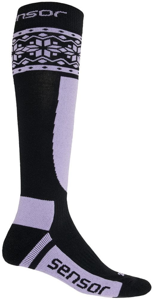 Sensor Ponožky ThermoSnow černá/fialová 9/11