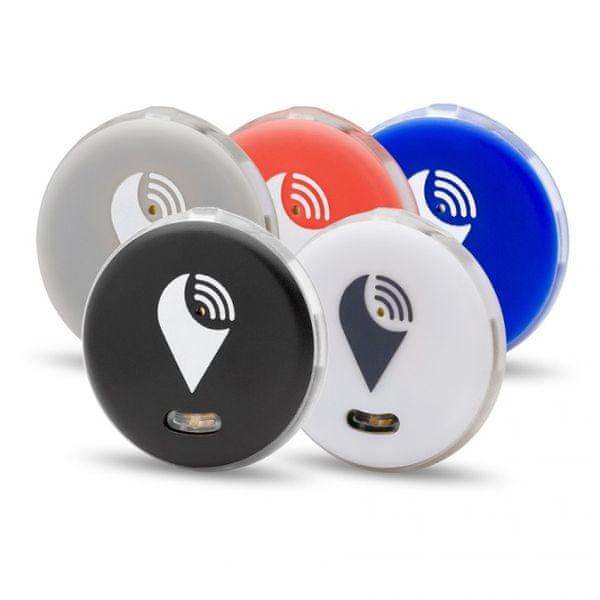 TrackR pixel - 5 Pack - černý/ bílý/ stříbrný/ červený/ modrý