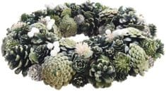 Kaemingk Adventní věnec 34 cm, zelený