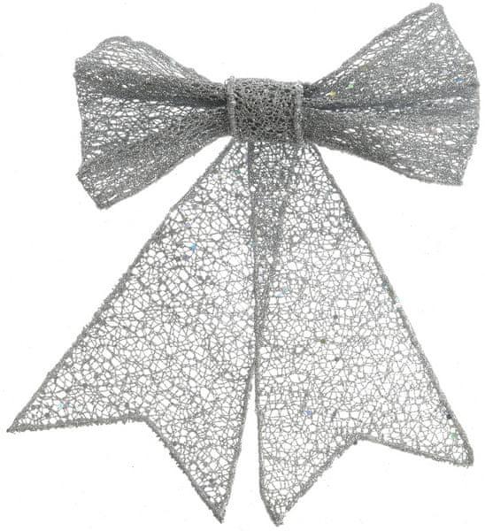 Kaemingk Vánoční ozdoba mašle, stříbrná