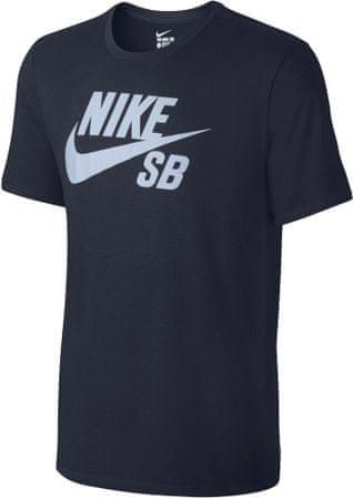 Nike moška majica SB Logo Tee, modra, L