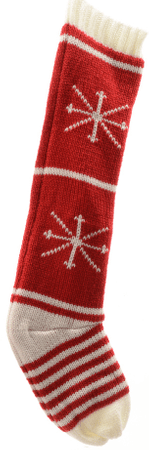 Kaemingk Vianočná pletená pančucha, hviezdy