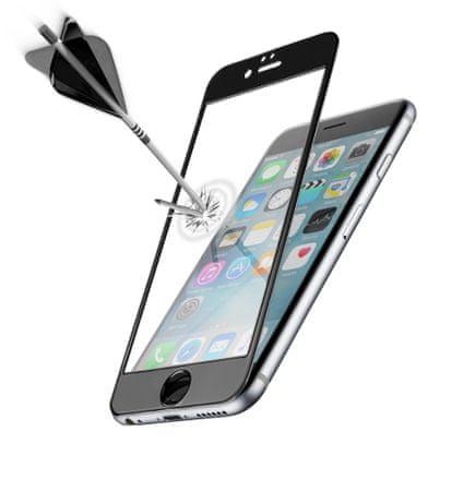 CellularLine zaščitno steklo Capsule za Apple iPhone 6S, črno