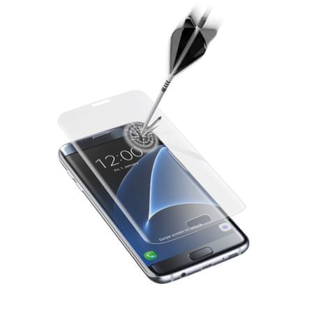 CellularLine zaščitno steklo Capsule za Samsung Galaxy S7 Edge, prozorno