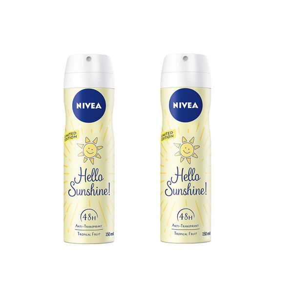 Nivea Deodorant ve spreji Hello Sunshine 150 ml 2 ks