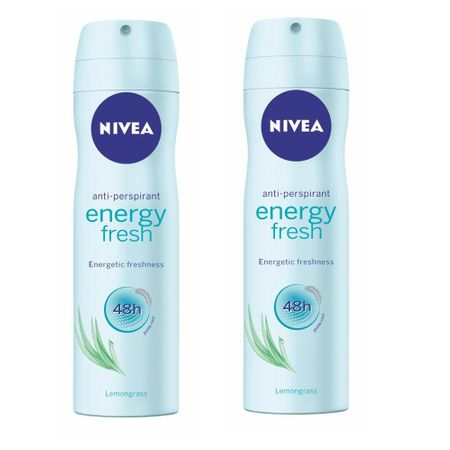 Nivea Antiperspirant ve spreji Energy Fresh 150 ml 2 ks